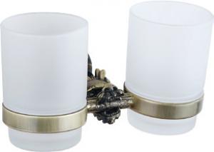 Luxury Bath Accessories Classical Dragon  Shape Double Glass Shelf