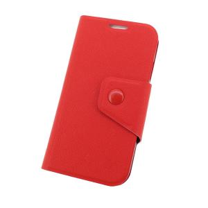 Wallet Pouch Luxury PU Leather Stand Book Style Case Cover for Samsung Galaxy S4 (I9500) Red