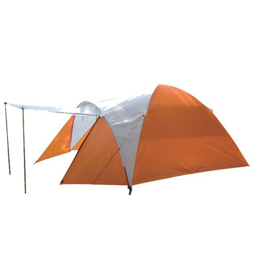 High Quality Outdoor Product 185T Polyester Orange And White Camping Tent