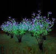 LED Clove Tree String Christmas Festival Light Green Leaves+ Pink/Purple Flowers 78W CM-SL-1296L