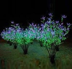 LED Clove Tree String Christmas Festival Light Green Leaves+ Pink/Purple Flowers 78W CM-SL-1296L