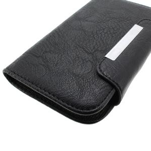 Hiht Quality Wallet Pouch Luxury PU Leather Case Cover for Samsung Galaxy S3 (I9300) Black