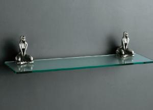 Artistic Bath Accessories Can Be Collection Silver Glass Shelf