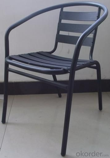 Hot Selling Outdoor Furniture Classical Black Painting Aluminum Chair