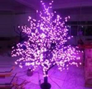 LED Tree Light Peach Flower String Christmas Festival Decorative Light Pink/Purple/RGB 93W CM-SLP-1536L3