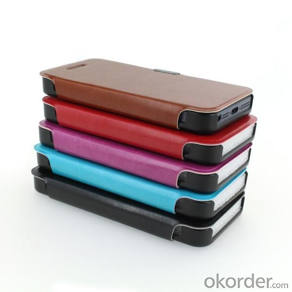 For iPhone5/5S PU Leather Stand Case Cover Red
