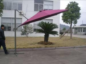 Hot Selling Outdoor Market Umbrella Offset Patio Umbrella Deep Red Small Roman Umbrella