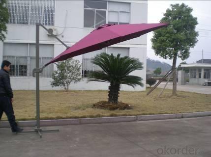Hot Selling Outdoor Market Umbrella Offset Patio Umbrella Deep Red Small Roman Umbrella