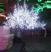 LED Artifical Cherry Tree Lights Flower String Christmas Festival Decorative LightRed/Yellow 152W CM-SLFZ-2520L1