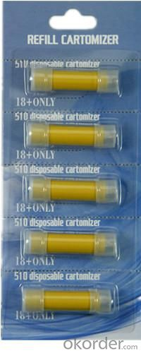 510 Electronic Cigarette Disposable Atomizer 5PCS Blister Package