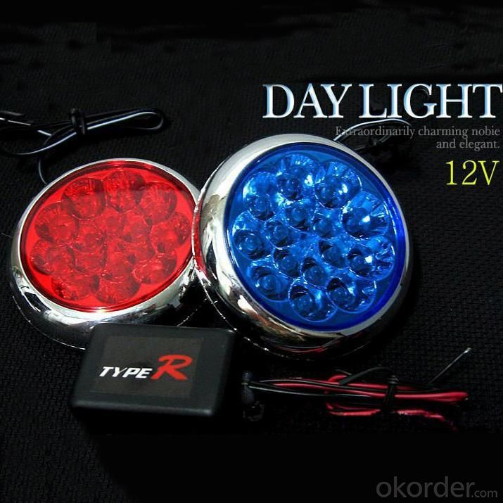 Auto Lighting System DC 12V Roud LED Car Light White CM-DAY-093