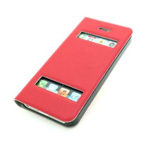 2014 Hot From China Exporter For iPhone 5 5s 5g 5gs S View Open Window Auto Wake Sleep Smart Cover Flip Case Red Multi Colors