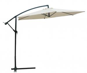 Hot Selling Outdoor Market Umbrella Full Iron Offset Umbrella 160g Polyester