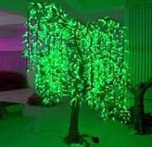 LED Artifical Cherry Tree Lights Flower String Christmas Festival Decorative LightRed/Yellow 87W CM-SLFZ-1440L1