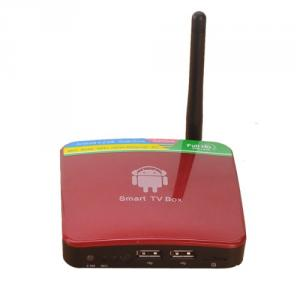 GV-11D Android TV Box 4.2 Dual Core 1GB 4GB HDMI WIFI 2.0MP Camera Microphone Red