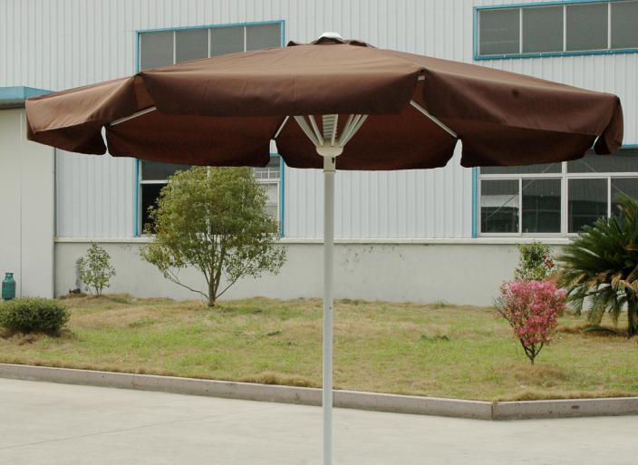 Hot Selling Outdoor Market Umbrella Full Iron Brown Umbrella Polyester