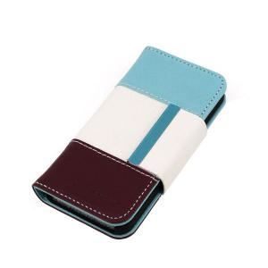 Colourful Wallet Pouch Lichee Pattern PU Leather Case Cover for iPhone4/4S
