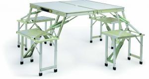 Hot Selling Outdoor Furniture MDF Fireproof Desktop Full Aluminum Picnic Table
