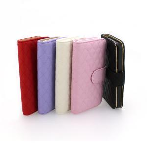 Luxury PU Leather for iPhone5/5S Wallet Pouch Stand Case Cover Pink