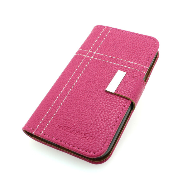 Wallet Pouch Luxury PU Leather Stand Case Cover for Samsung Galaxy S4 (I9500) Rose