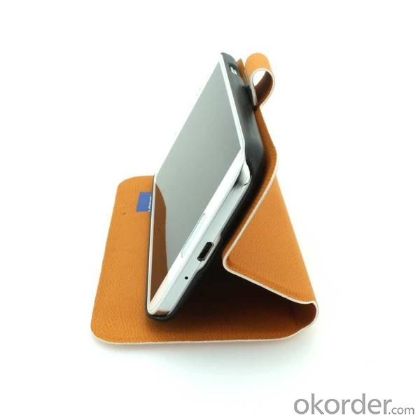 Wallet Pouch For Samsung Galaxy S4 (I9500) Luxury PU Leather Stand Style Case Cover Orange