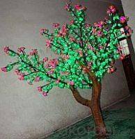 LED Artifical CuckooTree Lights Flower String Christmas Festival Decorative Pink Flowers+ Green Leaves 82W CM-SLFZ-1356L2