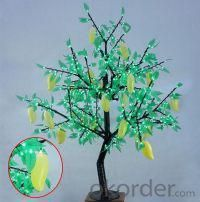 LED Fruit Tree String Christmas Festival Light Green Leaves+ Mango 39W CM-SLF-648Lm