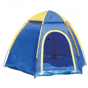 High Quality Outdoor Product 170T Polyester Blue And Yellow Camping Tent