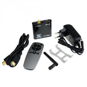 MT-05 Mini Android TV Box A31S Quad Core 2GB 8GB Android 4.1 External Wifi Antenna Remote Control  Black