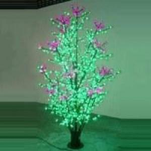 LED Clove Tree String Christmas Festival Light Green Leaves+ Pink/Purple Flowers 87W CM-SL-1140L