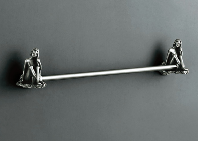 Artistic Bath Accessories Can Be Collection Silver Towel Bar