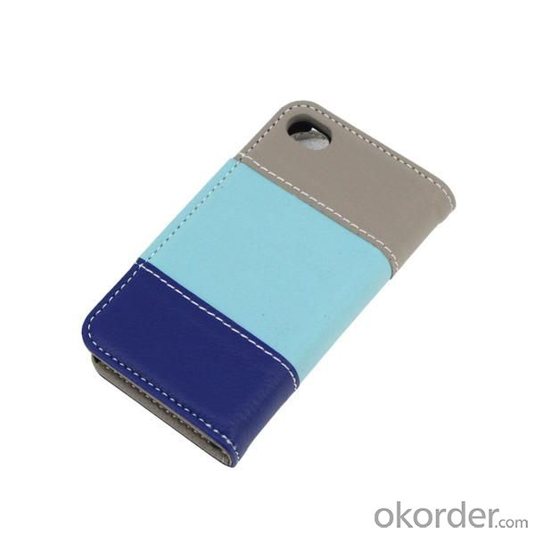 Lichee Pattern PU Leather Case For iPhone4/4S Wallet Pouth Cover Colourful