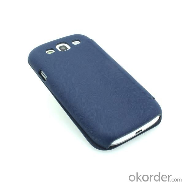 Luxury PU Leather Case for Samsung Galaxy S3 (I9300) Wallet Pouch Cover Blue