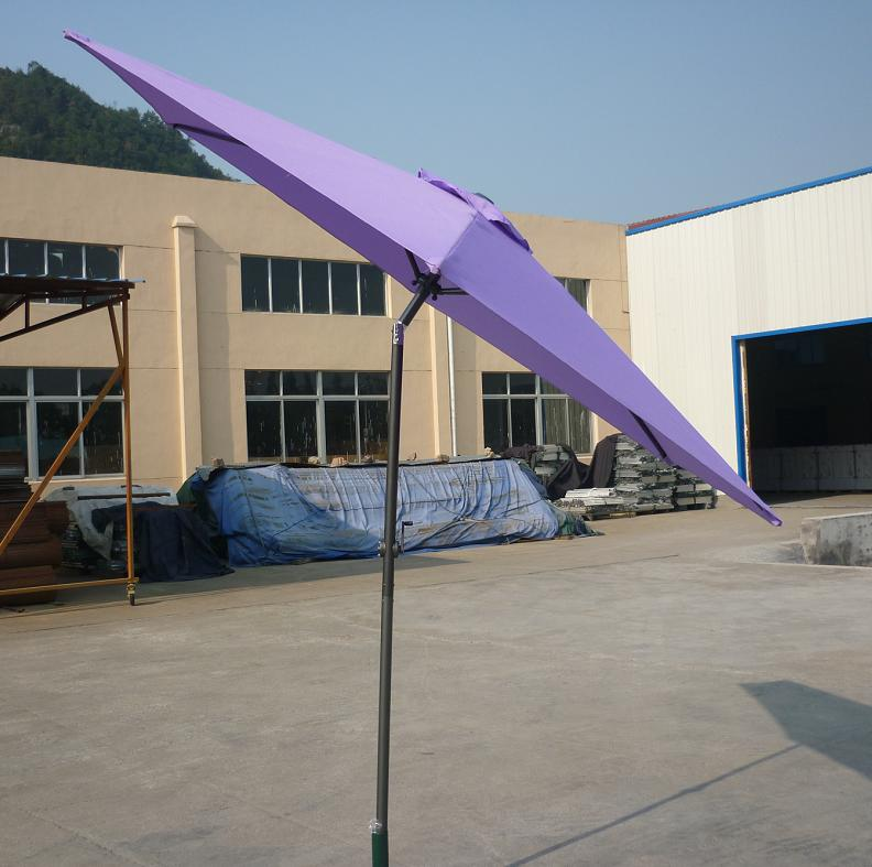 Hot Selling Outdoor Market Umbrella Purple Offset Umbrella Polyester