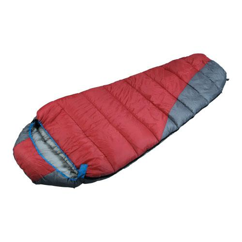 High Quality Outdoor Product Polyester Red And Gray Sleeping Bag