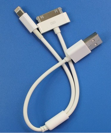 2 in 1 Chager Cable USB TO IPHONE4 /IPHONE5 lightning