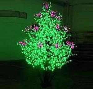 LED Clove Tree String Christmas Festival Light Green Leaves+ Pink/Purple Flowers 156W CM-SL-2592L