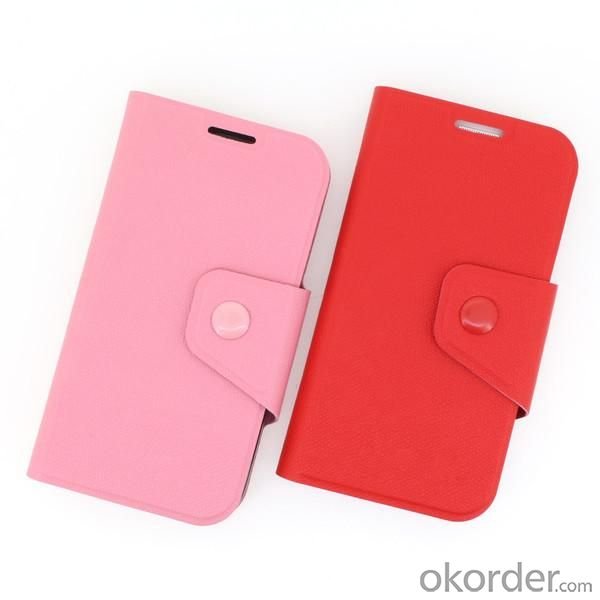 Wallet Pouch Luxury PU Leather Stand Book Style Case Cover for Samsung Galaxy S4 (I9500) Pink