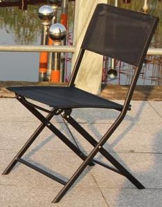 Hot Selling Outdoor Furniture Classical Black Steel Textilene Folding Chair