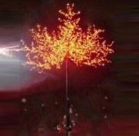 LED Tree Light Peach Flower String Christmas Festival Decorative Light Blue/Green/White 312W CM-SLP-5184L2