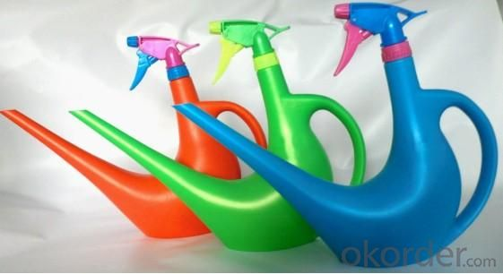 High Quality Outdoor Product PE Three Colors Watering Can L