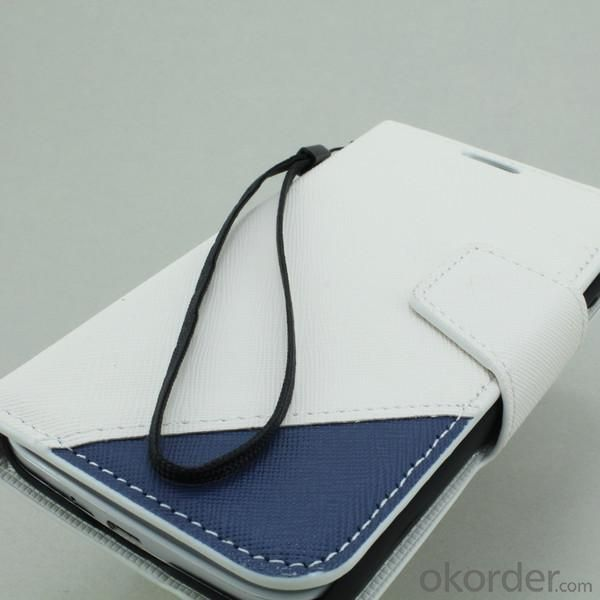 Wallet Pouch Luxury PU Leather Stand Book Style Case Cover for Samsung Galaxy S4 (I9500) White
