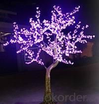 LED Artifical Cherry Tree Lights Flower String Christmas Festival Decorative LightRed/Yellow 93W CM-SLFZ-1536L1