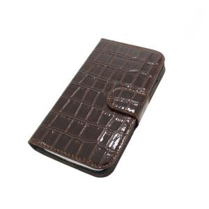 Luxury PU Leather Stand Case Cover for Samsung Galaxy S4 (I9500) Wallet Pouch Dark Brown