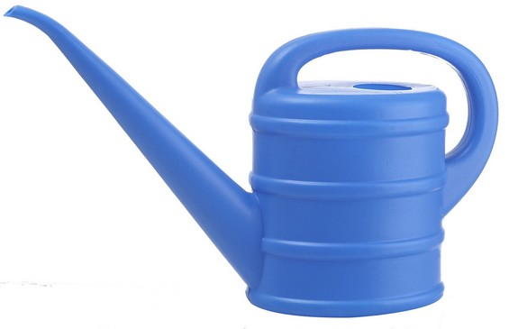 High Quality Outdoor Product PE Blue Simple Watering Can L