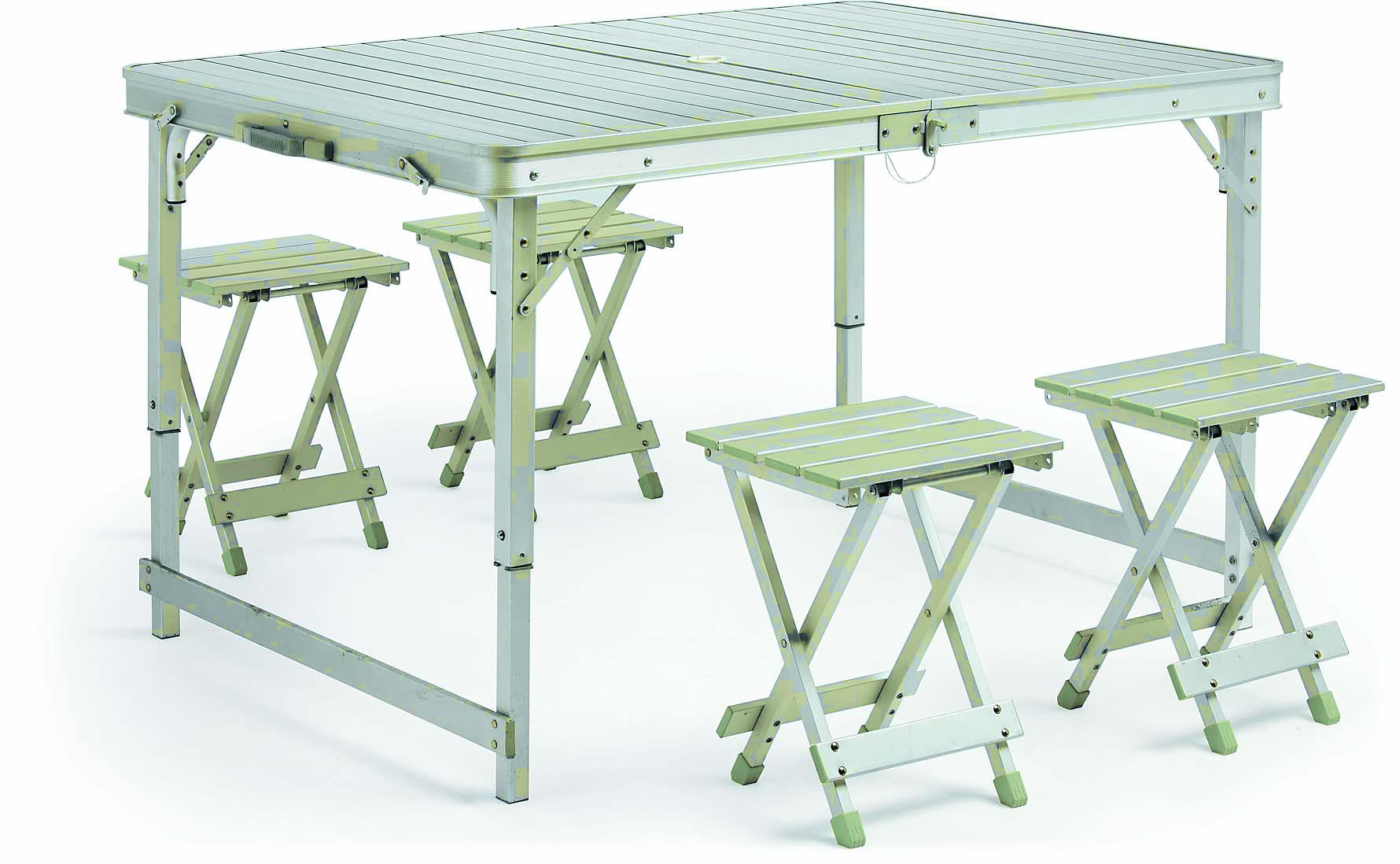 Hot Selling Outdoor Furniture Economic Full Aluminum Picnic Table