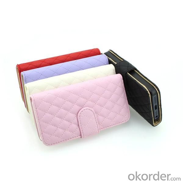 Luxury PU Leather for iPhone5/5S Wallet Pouch Stand Case Cover Red