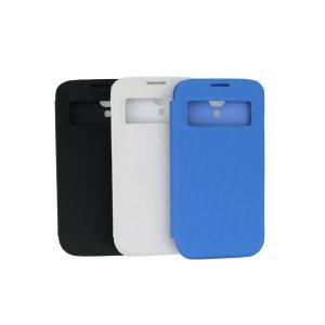 China Factory For White Samsung Galaxy S4 I9500 S View Case Front Hollow Smart Cover Battery Back Cover Case