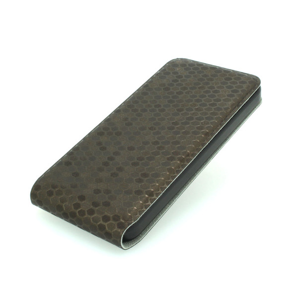 For iPhone 5 5s 5g 5gs Luxury Crocodile Snake Skin PU Leather Horizontal Flip Case Auto Sleep Wake Smart Cover Dark Grey