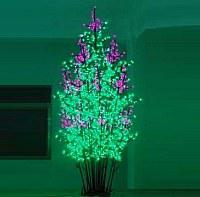 LED Clove Tree String Christmas Festival Light Green Leaves+ Pink/Purple Flowers 192W CM-SL-3200L